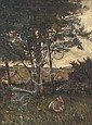 JOSEPH POOLE ADDEY (1852-1922) Donkey Resting by a River Oil on canvas, Joseph Poole Addey, Click for value