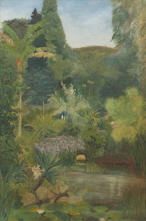ANTON KNIGHT (AMERICAN, C.1897) Tropical Garden