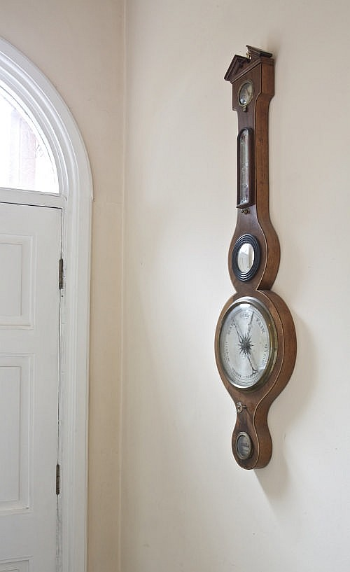 A LATE 19TH CENTURY INLAID MAHOGANY BANJO