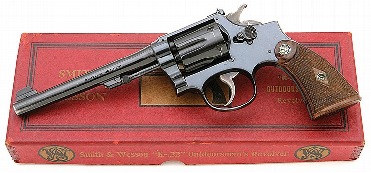 Smith & Wesson K-22 outdoorsman's first model revolver