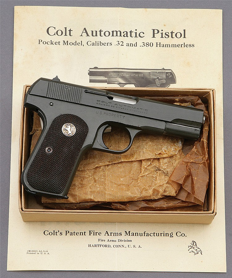 U.S. model 1903 officers pocket model pistol?by Colt