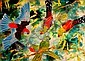 PRUE ANDREWS (1956 - ), Original Watercolour Painting, 1988, Title:  Parrots, Signed Lower Left, Dated Lower Left