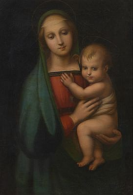 Italian School (ca. 18th Century) After Raphael's &quot;Madonna del Granduca&quot;