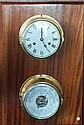 A Schatz brass framed ship's clock and precision