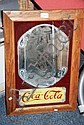 Modern Coca Cola wall mirror, timber framed