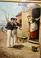 H Bush ?, oil on canvas; Edwardian sailors outside