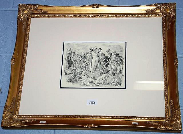 Well framed Norman Lindsay print