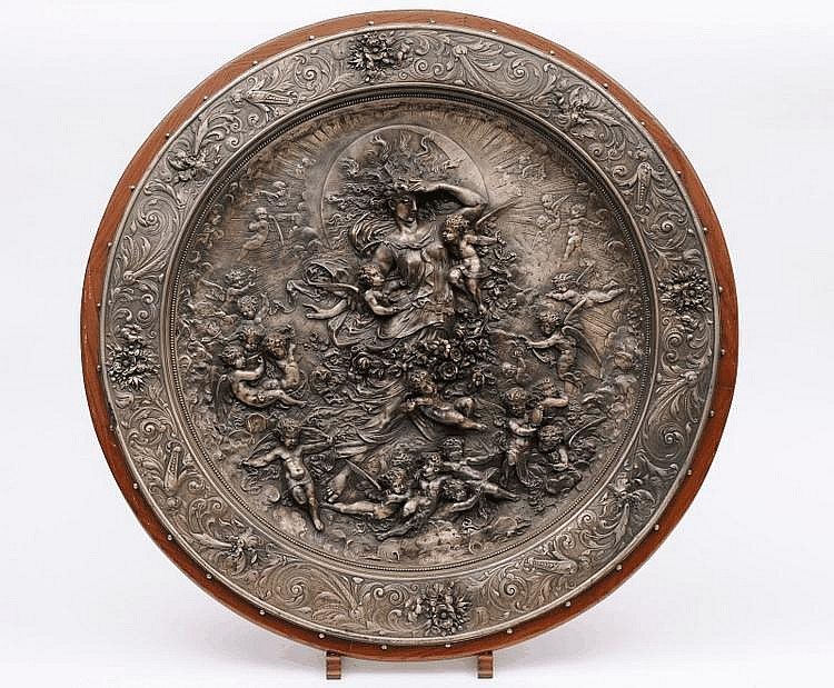 Herbert Mason, a large electrotype circular plaque