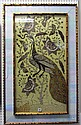 A gilt and lacquered painting on panel, Chinese,
