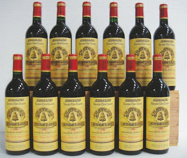 Wine: 12 Bottles CHTEAU ANGELUS (Caisse Bois)