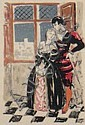 Yves BRAYER 1907-1990 LE COUPLE Lithographie 37 x