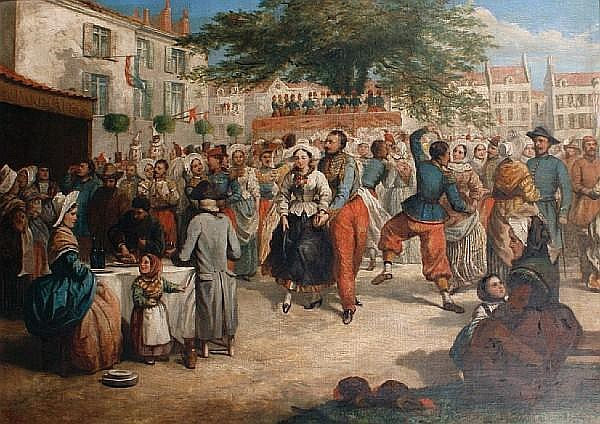 Thomas Musgrave Joy (British, 1812-1866) A Boulogne carnival