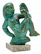 Carl Milles 1875-1955 Girl playing with her toes., Carl Emil Milles, kr0