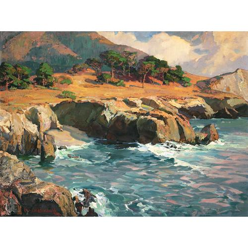 Bischoff Seascape Oil Painting