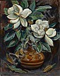Donna N. Schuster (American, 1883-1953) Magnolias in a vase 27 x 21in unframed, Donna Norine Schuster, Click for value