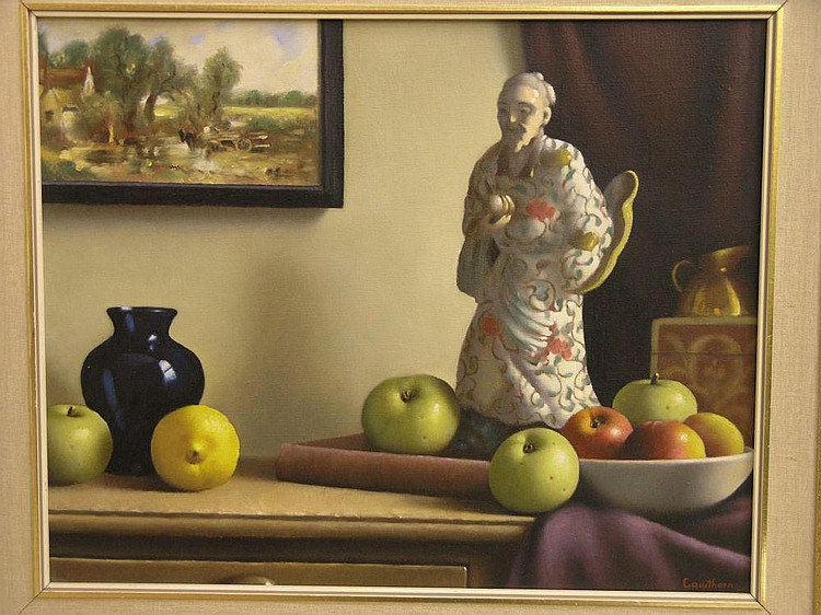 Christopher Cawthorn - oil on canvas, still life,
