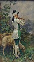 KAEMMERER, Frederick H. O/C of a Shepherd Boy with