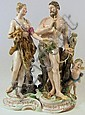 A Meissen porcelain figural group of