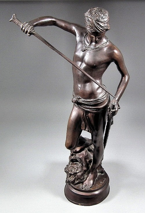 After Antonin Mercie (1845-1916) - Brown patinated