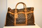 VUITTON - sac  chaussures, toile monogramme et cuir vachette,   bon tat