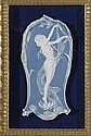 Framed Wedgwood-Like Porcelain Plaque