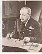 Arthur Harris signed photo 21 x 27 cms. Good
