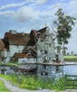 Edward Walker Watermill signed bottom left