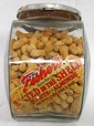 Glass Fishers Peanuts jar with label