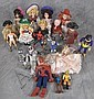 TWO ASSORTED LOTS OF SMALL DOLLS AND ACTION FIGURES.