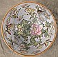 CHINESE PORCELAIN POLYCHROME PUNCH BOWL.  With flowers and butterflies.  20th ce