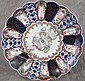 JAPANESE IMARI POLYCHROME PORCELAIN SCALLOPED CHARGER.  12