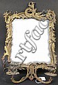 VICTORIAN GUILDED IRON ROCOCO STYLE MIRRORED