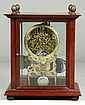 Unusual Brass Framed Skeleton Clock