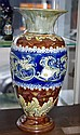 Large Doulton Lambeth stoneware vase 35cm high,