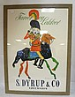 FRAMED AD POSTER BY ERIK STOCKMARR; *8 YEARS OLD -