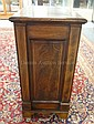 INLAID ONE DOOR CABINET W/INTERIOR DEEP DRAWER
