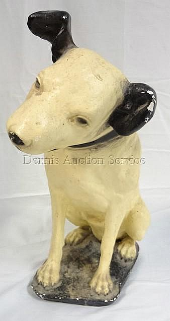 PLASTER FIGURE OF THE RCA DOG, NIPPER; *HIS