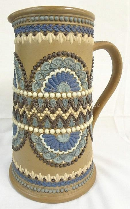 DOULTON LAMBETH SILICON PITCHER W/BLUE, BROWN &