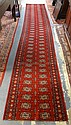 2 FT 9 IN X 14 FT 9 IN RED BOKHARA RUNNER