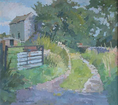Mike Connley Back Lane, Taddington Oil on board 35