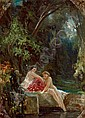 Wilhelm Amberg (Berlin 1822-1899) Bathing Nymphs,, Wilhelm Amberg, Click for value