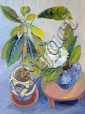 Elvic Steele (1920-1997) Still life of flowers in