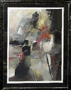 ANTHONY PETTERA, ABSTRACT PAINTING ON PAPER,  1991, 41in x 30in
