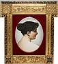 KPM/BERLIN PORCELAIN PORTRAIT PLAQUE, C. 1900, 10 1/4