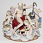 MEISSEN PORCELAIN FIGURAL GROUP, 'FATHER TIME', 19TH C., H 9
