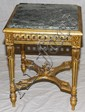 FRENCH LOUIS XVI MARBLE TOP TABLE, 19TH CENT., H