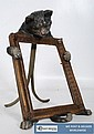 A good bronze cold painted cat picture frame