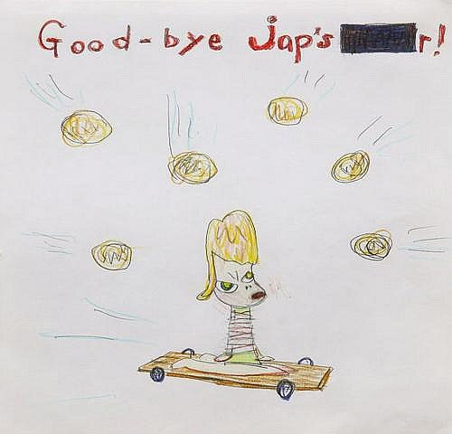 Yoshitomo Nara 1959 TITLE: Good-bye jap's r!