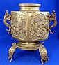 Late 19th/ Early 20th century cast bronze urn,