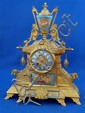 19th century French gilt metal and porcelain clock